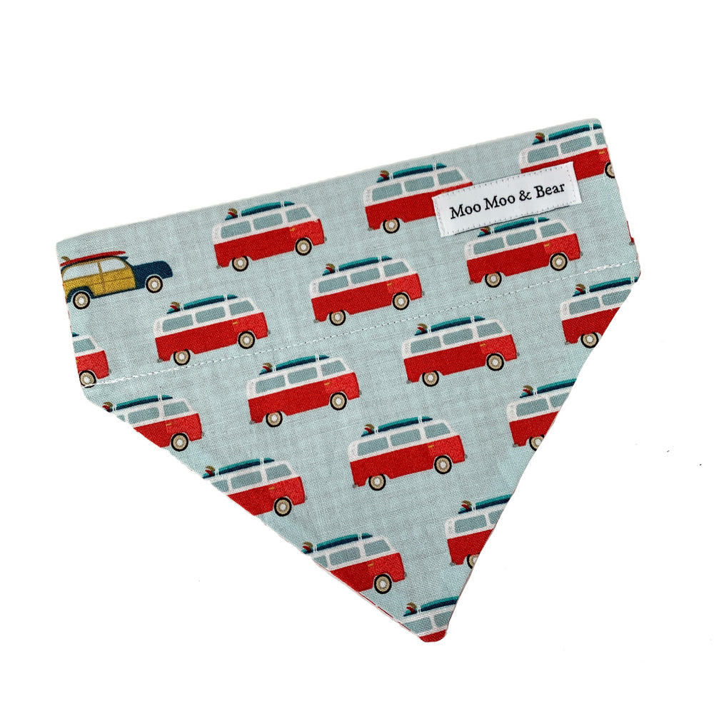 'ROAD TRIP' DOG BANDANA IN RED
