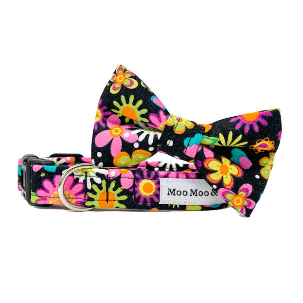 'SECRET GARDEN' DOG BANDANA IN BLACK