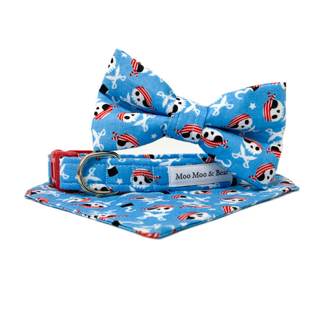 'CAPTAIN JACK' DOG BANDANA IN BLUE
