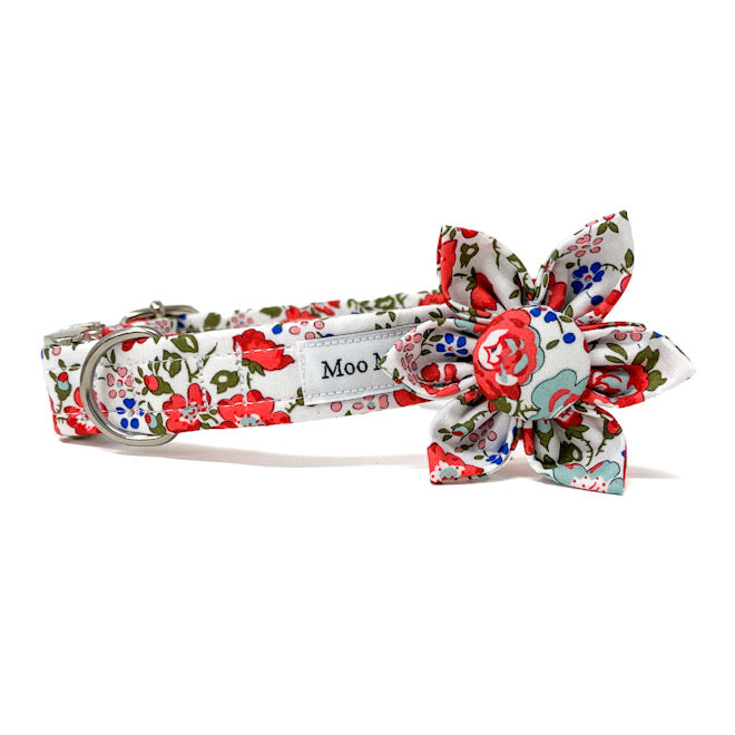 LIBERTY OF LONDON FABRIC TRAILING ROSE FLOWER BY MOO MOO & BEAR