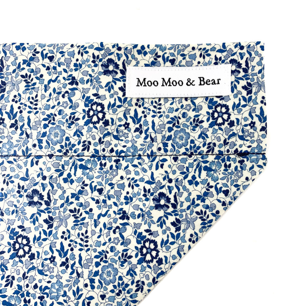 LIBERTY OF LONDON KATIE AND MILLIE IN BLUE TONE DOG BANDANA