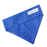 'POLKA DOT' DOG BANDANA IN ROYAL BLUE
