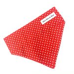 'POLKA DOT' DOG BANDANA IN RED
