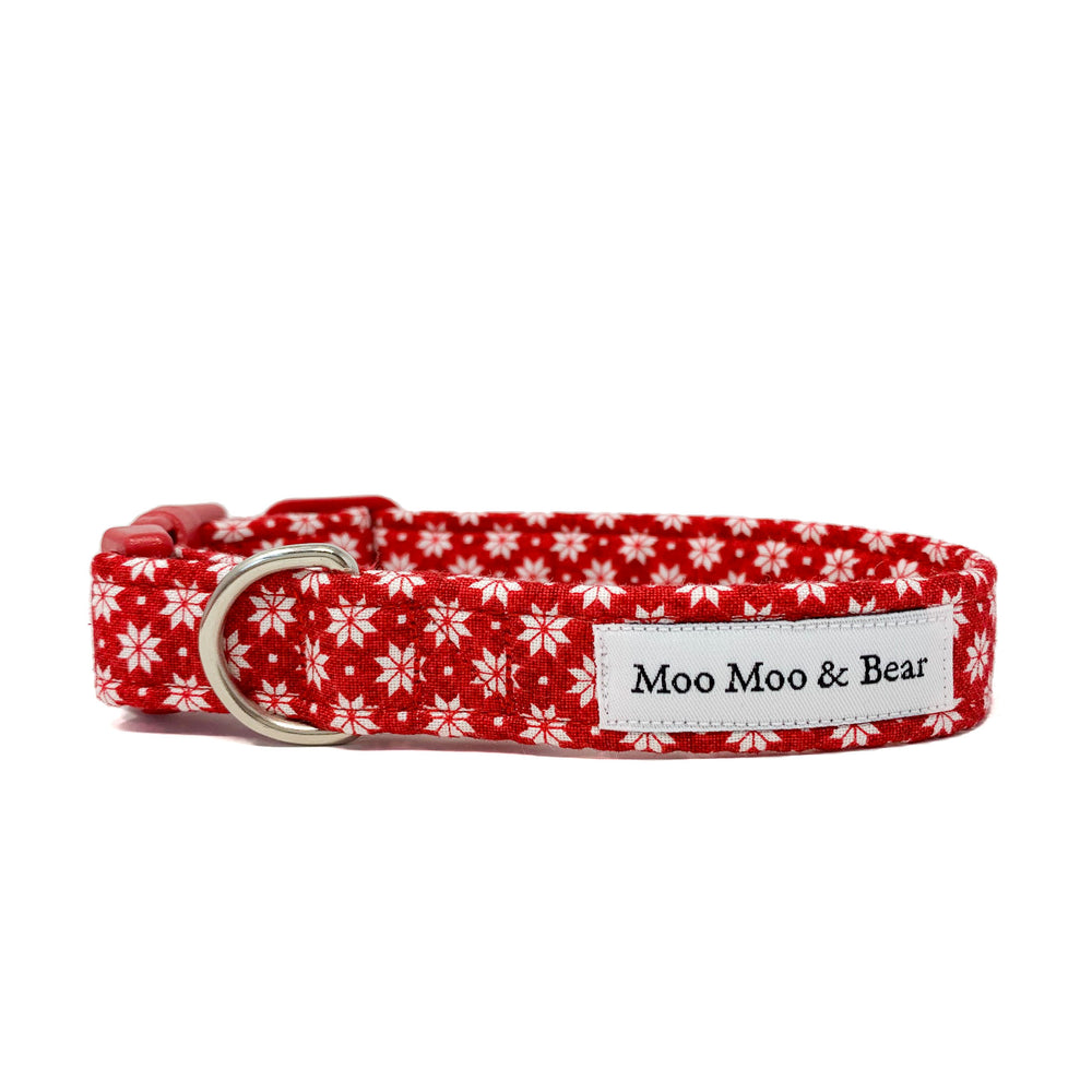 'NORDIC' RED DOG COLLAR