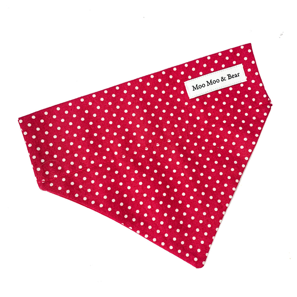 'POLKA DOT' DOG BANDANA IN RASPBERRY