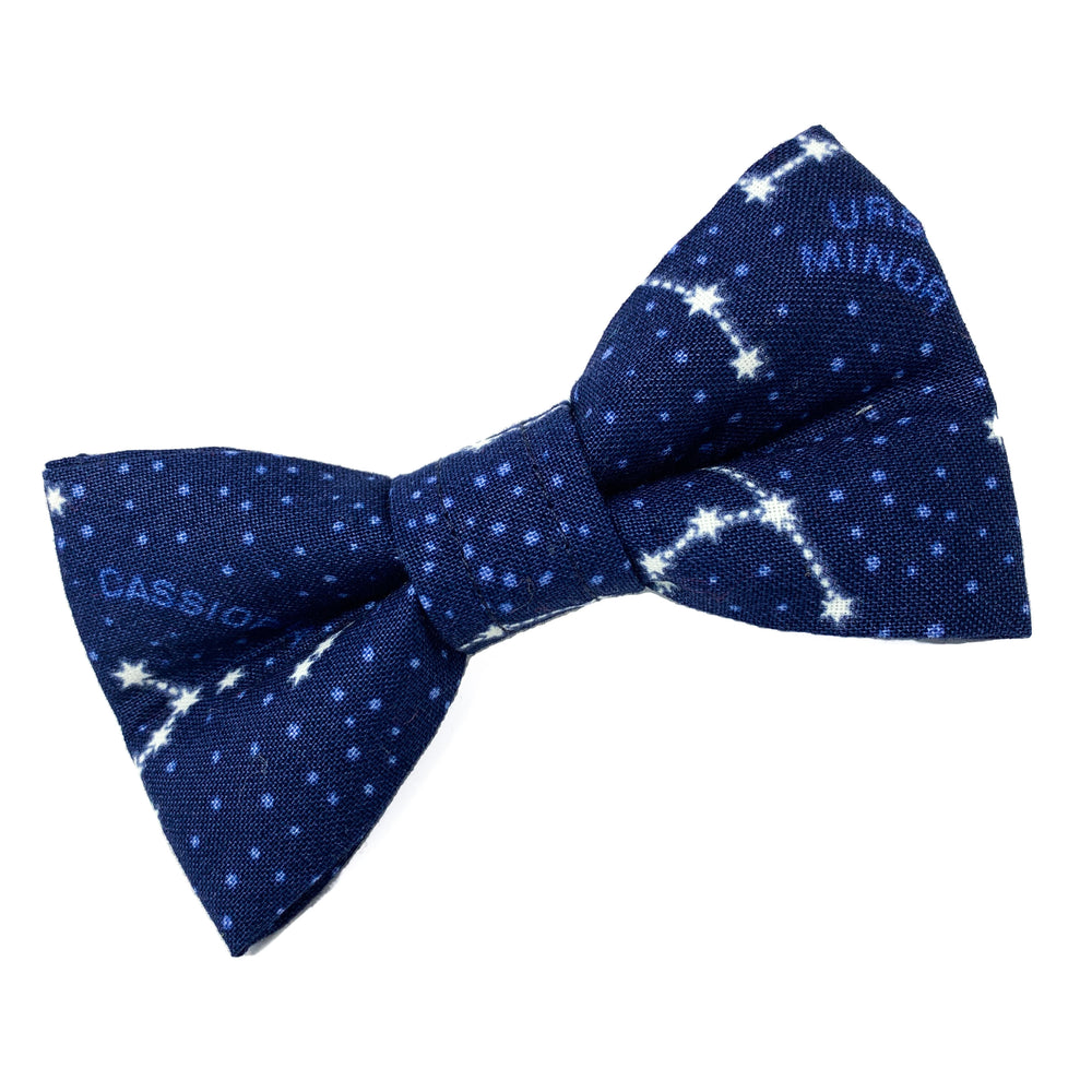 'STAR GAZER' BLUE DOG BOW TIE