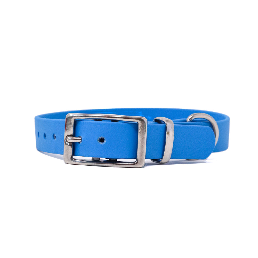 THE COASTAL COLLECTION GENUINE BIOTHANE® DOG COLLAR -1ST EDITION - AZURE