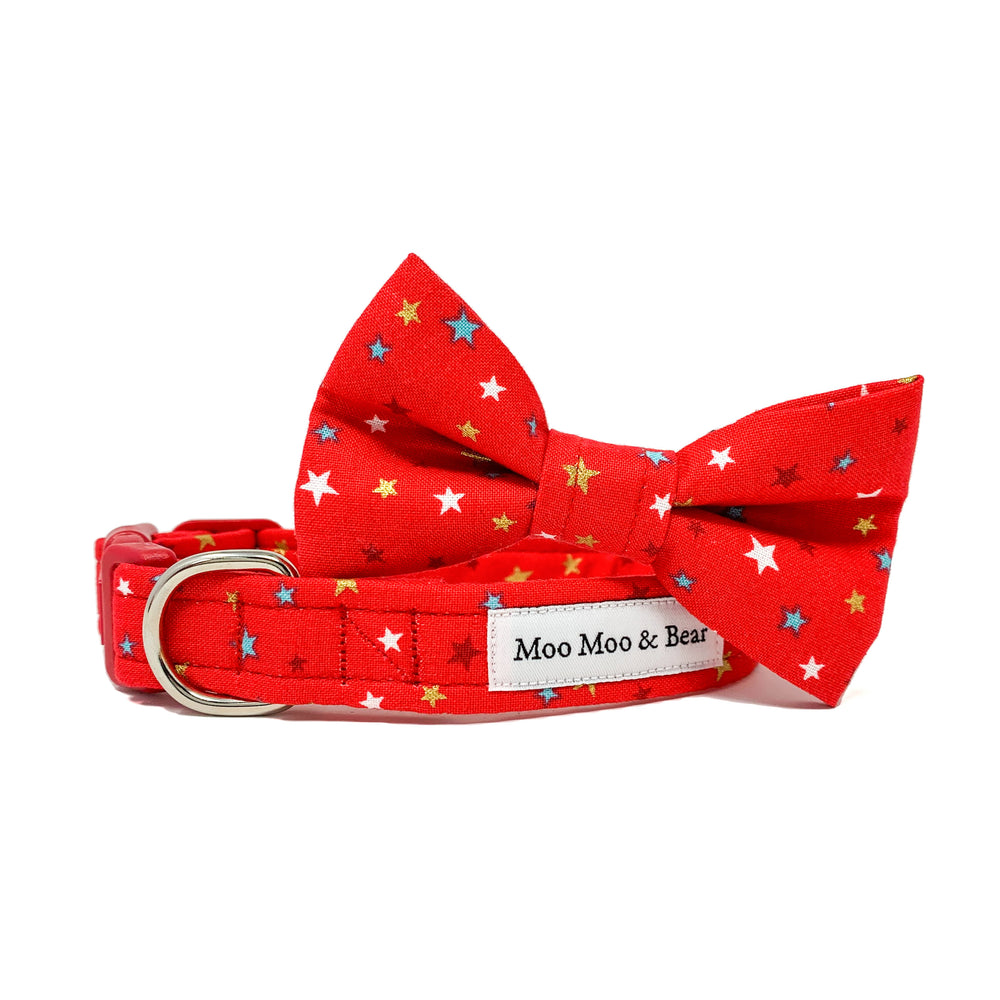 'STAR BRIGHT' RED DOG BOW TIE