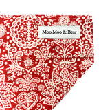 'LACE' DOG BANDANA IN RED