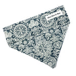 'LACE' DOG BANDANA IN STEEL GREY