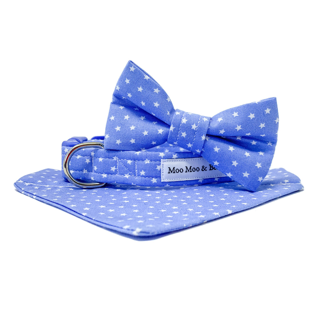 'STAR' DOG BOW TIE IN INDIGO