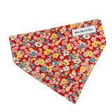 Summer meadow red floral dog bandana by Moo Moo & Bear