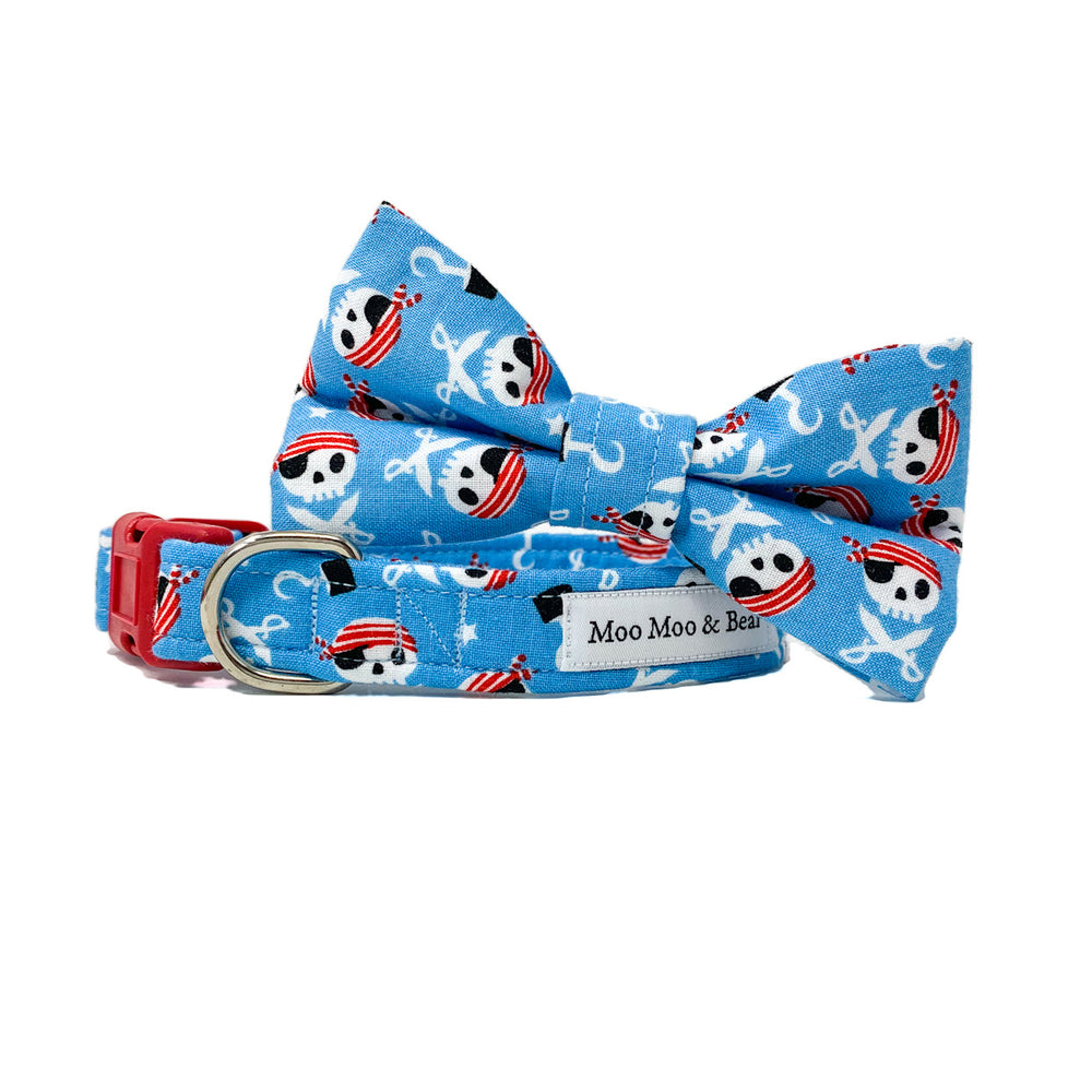 'CAPTAIN JACK' DOG COLLAR AND OPTIONAL LEAD IN BLUE