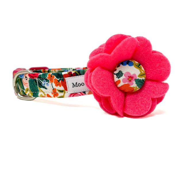 'WILDWOOD' FELT DOG COLLAR FLOWER