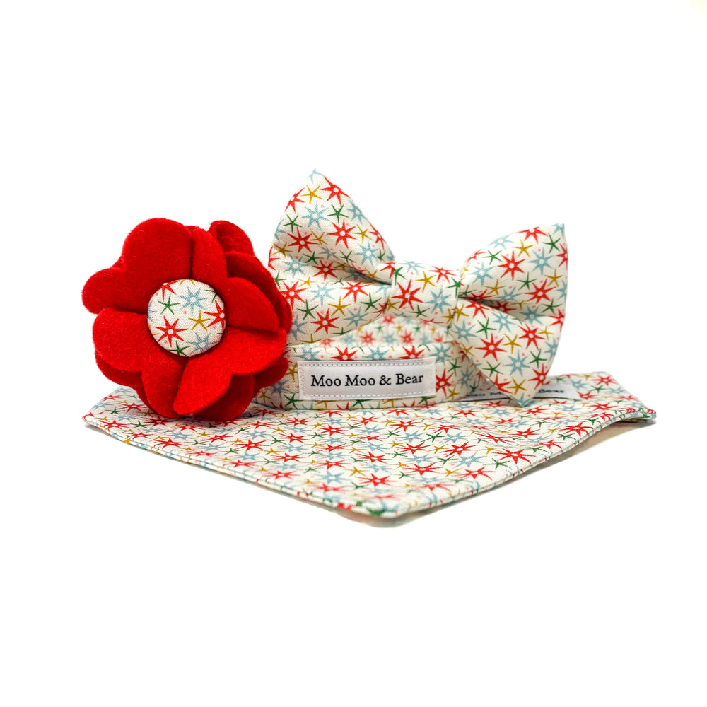 CHRISTMAS AT LIBERTY FESTIVE WISH DOG BOW TIE