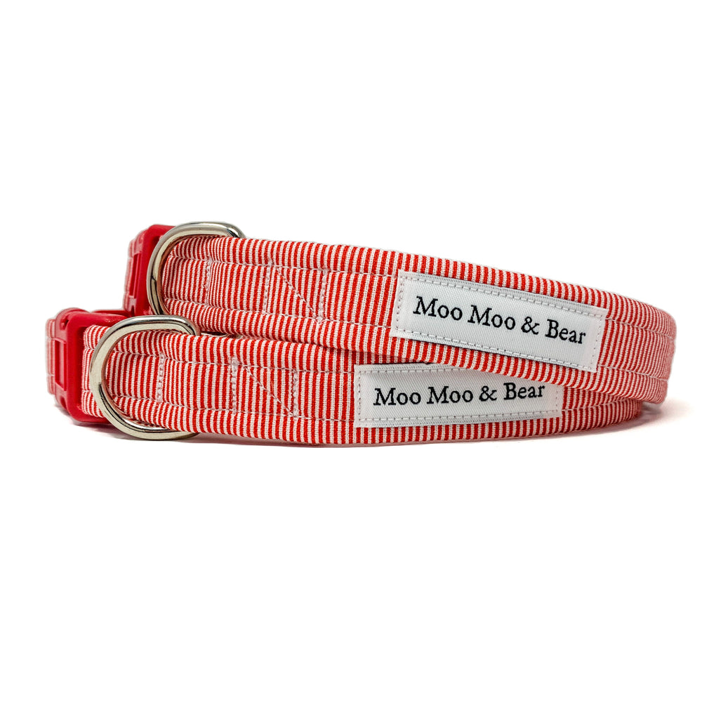 FESTIVE 'CANDY CANE' DOG COLLAR AND OPTIONAL LEAD