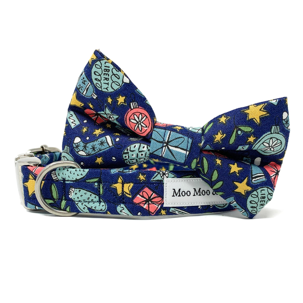 CHRISTMAS AT LIBERTY FESTIVE JOY BLUE DOG BOW TIE