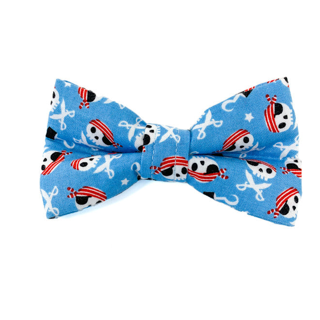 'CAPTAIN JACK' DOG BOW TIE IN BLUE