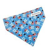 Captain Jack pirate themed blue dog bandana