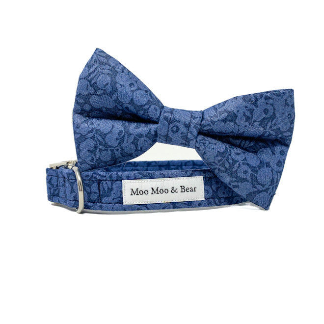 LIBERTY OF LONDON WILTSHIRE INDIGO DOG BOW TIE