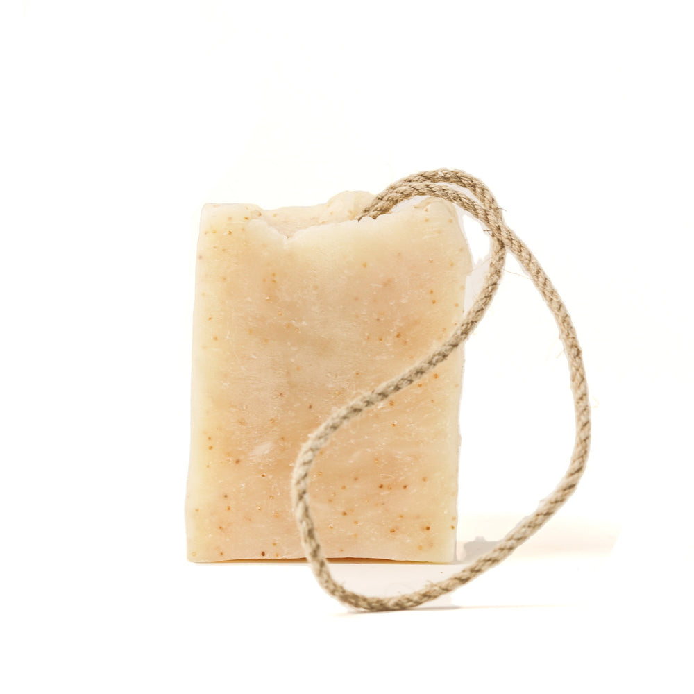 THE DOG AND I NATURAL COCONUT OIL DOG SOAP ON A ROPE 200G