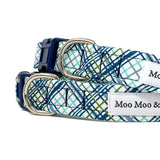 'SHORE PLAID' DOG COLLAR AND OPTIONAL LEAD