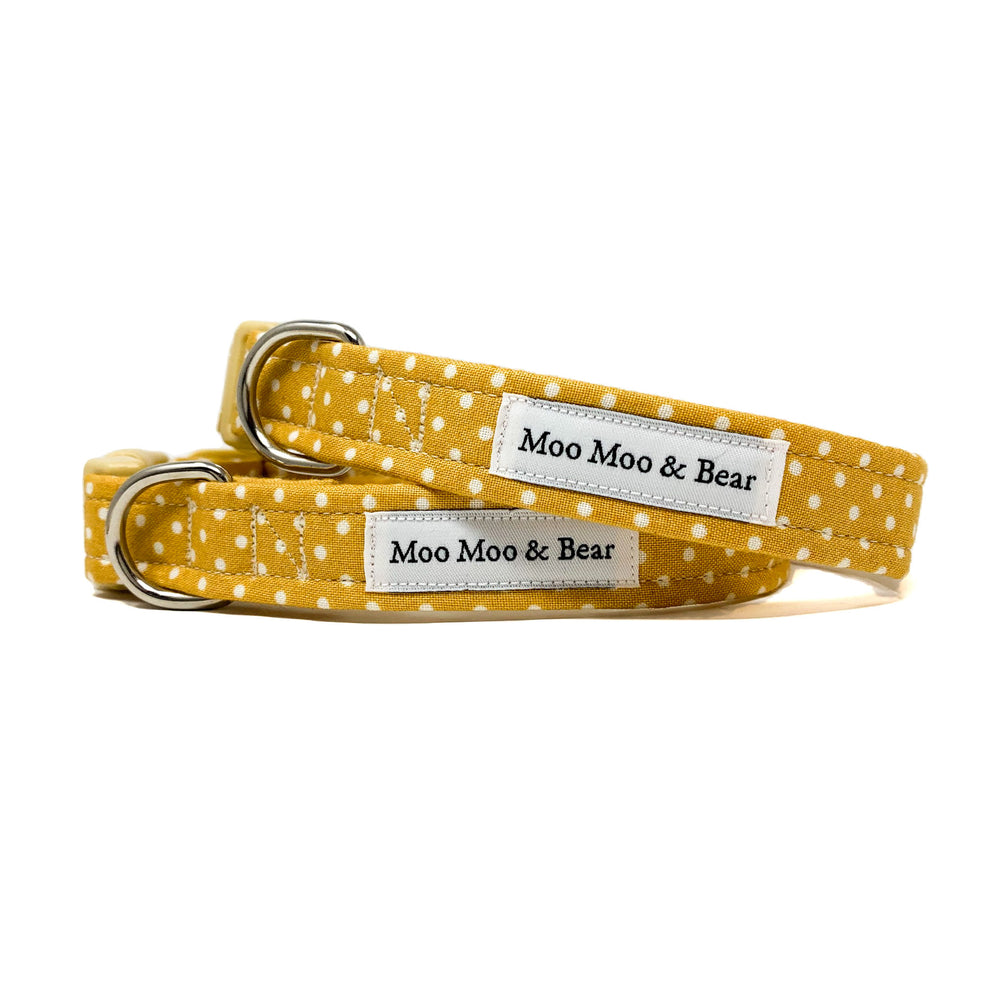 'POLKA DOT' DOG BANDANA IN MUSTARD