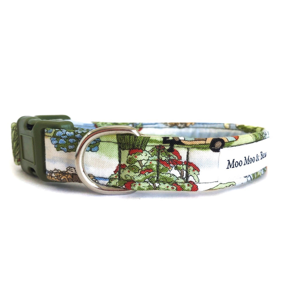 'VINTAGE CAMPING' DOG COLLAR AND OPTIONAL LEAD