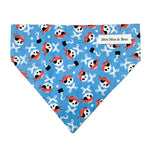 Moo moo & Bear pirate dog bandana handmade