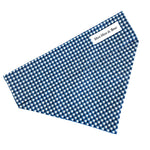 'GINGHAM' DOG BANDANA IN NAVY BLUE