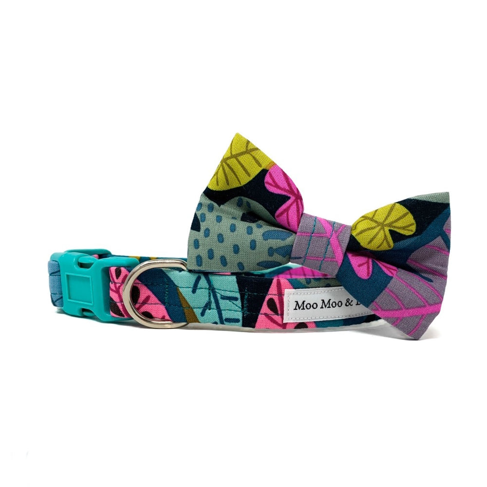'FIERCE' DOG BOW TIE IN JUNGLE PRINT
