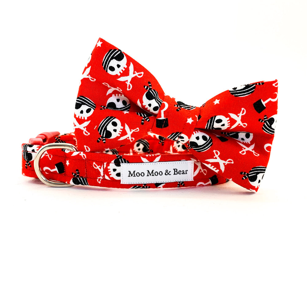 'CAPTAIN JACK' DOG COLLAR AND OPTIONAL LEAD IN RED