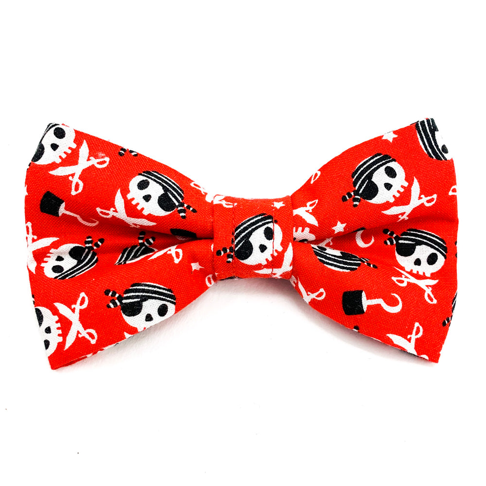 'CAPTAIN JACK' DOG BOW TIE IN RED