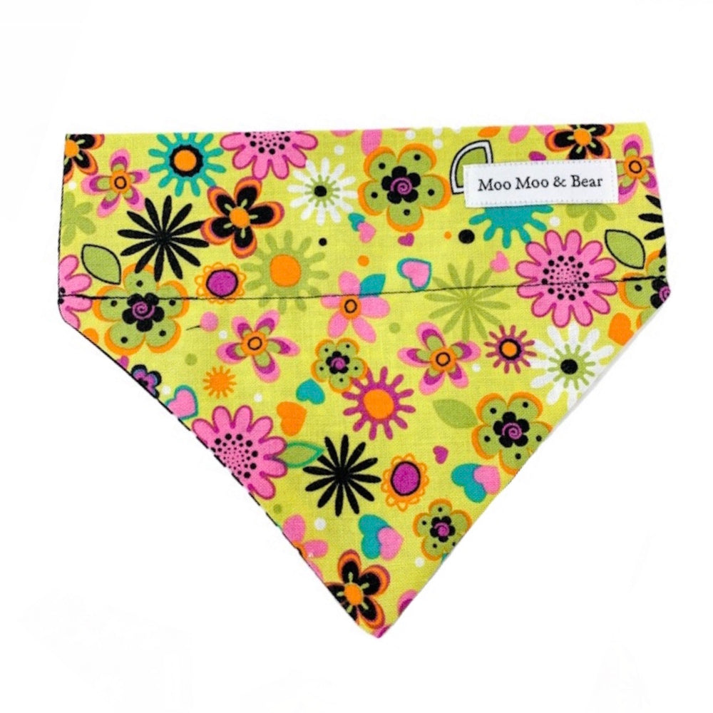 'SECRET GARDEN' DOG BANDANA IN CITRUS