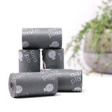 plastic free dog poo bags loose roll in grey