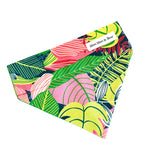 tropical summer pink dog bandana | Moo Moo & Bear