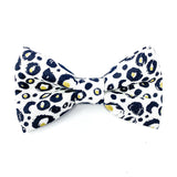 'SNOW LEOPARD' DOG BOW TIE