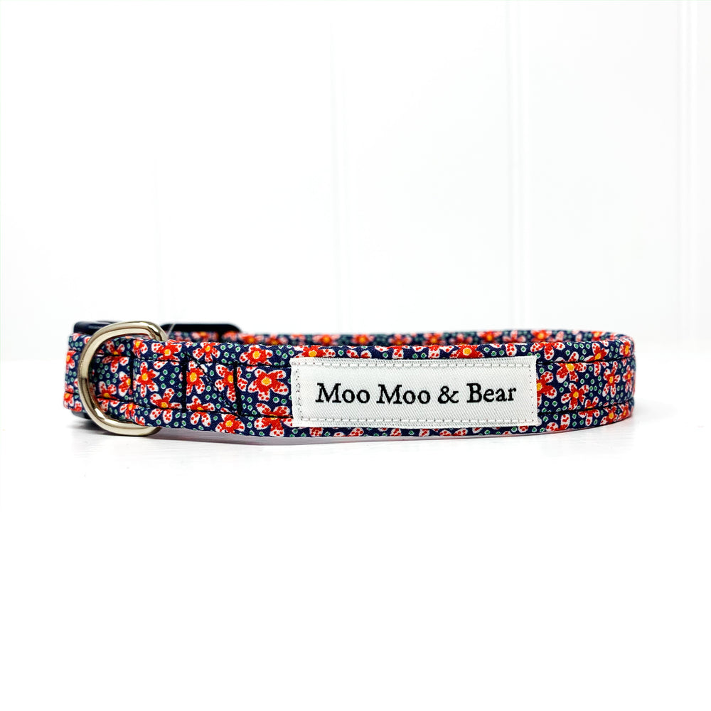 LIBERTY OF LONDON SPECKLE DOG COLLAR AND OPTIONAL LEAD