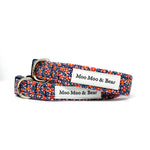 LIBERTY OF LONDON SPECKLE DOG COLLAR FELT FLOWER