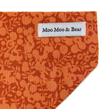 LIBERTY OF LONDON WILTSHIRE ORANGE DOG BANDANA