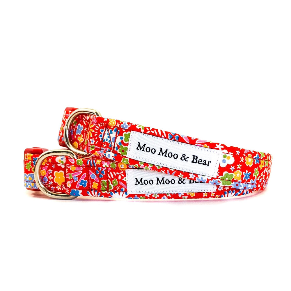LIBERTY OF LONDON KAYOKO DOG COLLAR FELT FLOWER