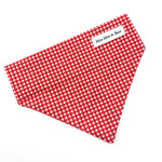 'GINGHAM' DOG BANDANA IN RED