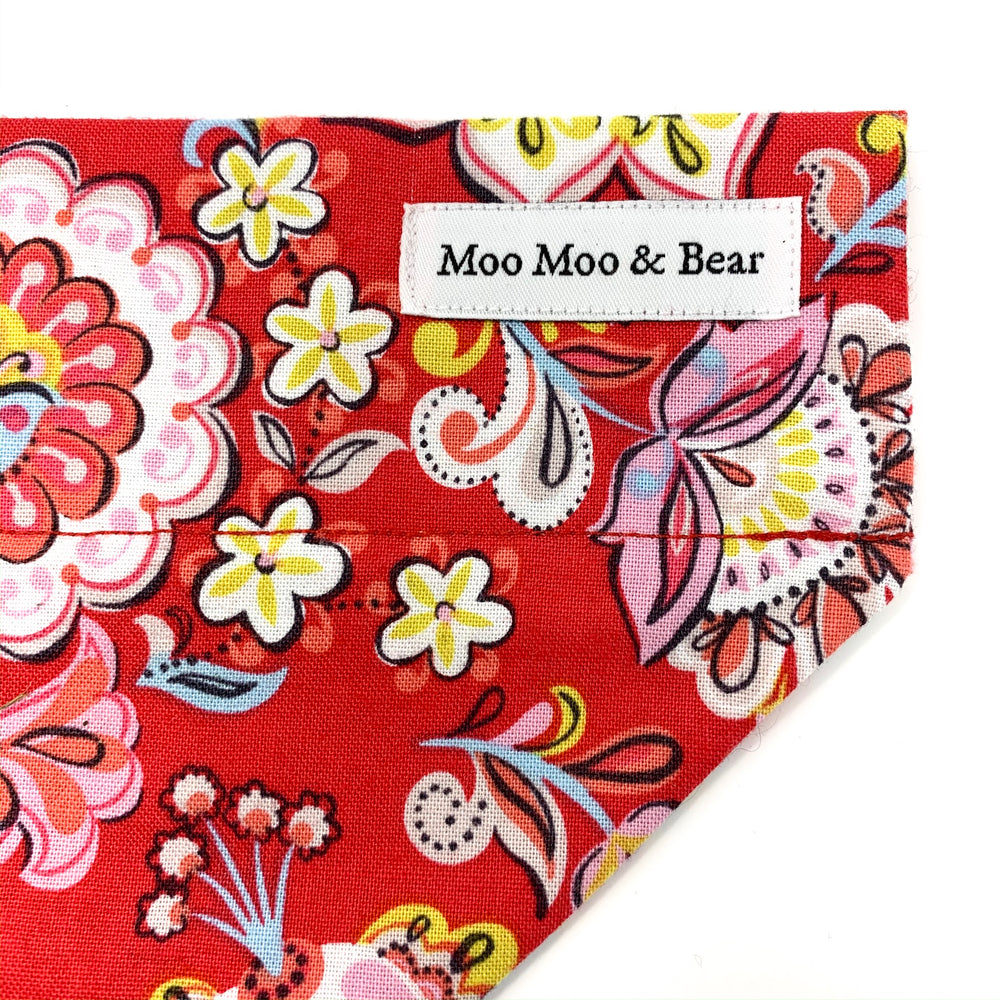 'BABUSHKA' DOG BANDANA IN RED