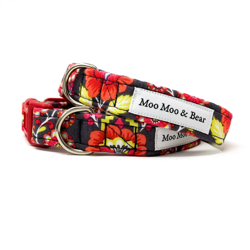 'BABUSHKA' DOG COLLAR IN GREY
