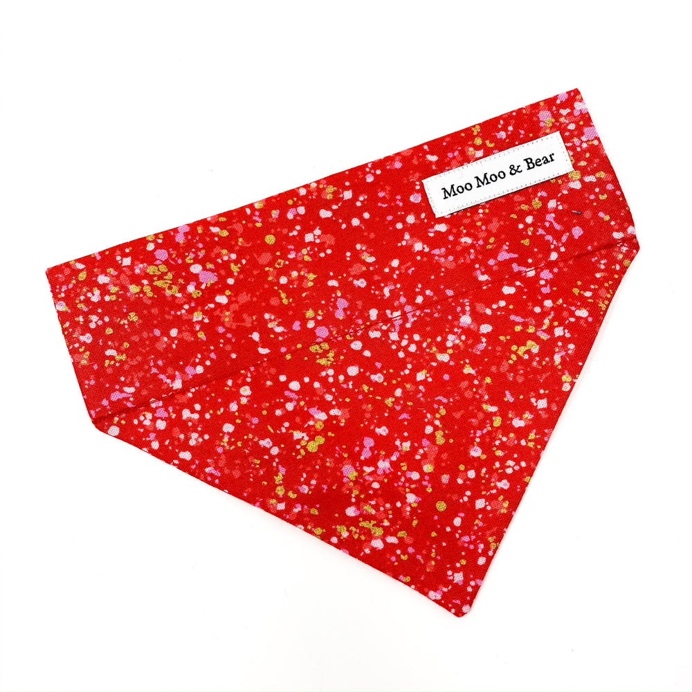 'POP' DOG BANDANA IN RED