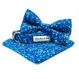 'POP' DOG BOW TIE IN BLUE