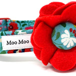 'BOHO' DOG COLLAR FELT FLOWER