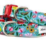 'BOHO' DOG COLLAR AND OPTIONAL LEAD IN BLUE