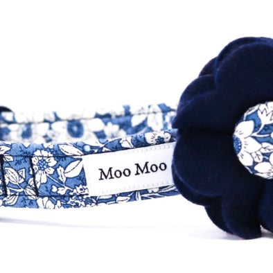 'ALBERT' DOG COLLAR FELT FLOWER