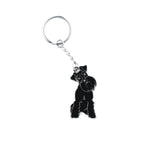 black schnauzer enamel key ring for dog lovers